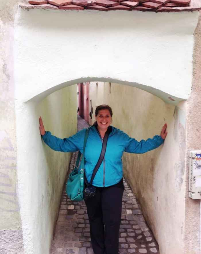 Hanging out in the smallest street in Europe