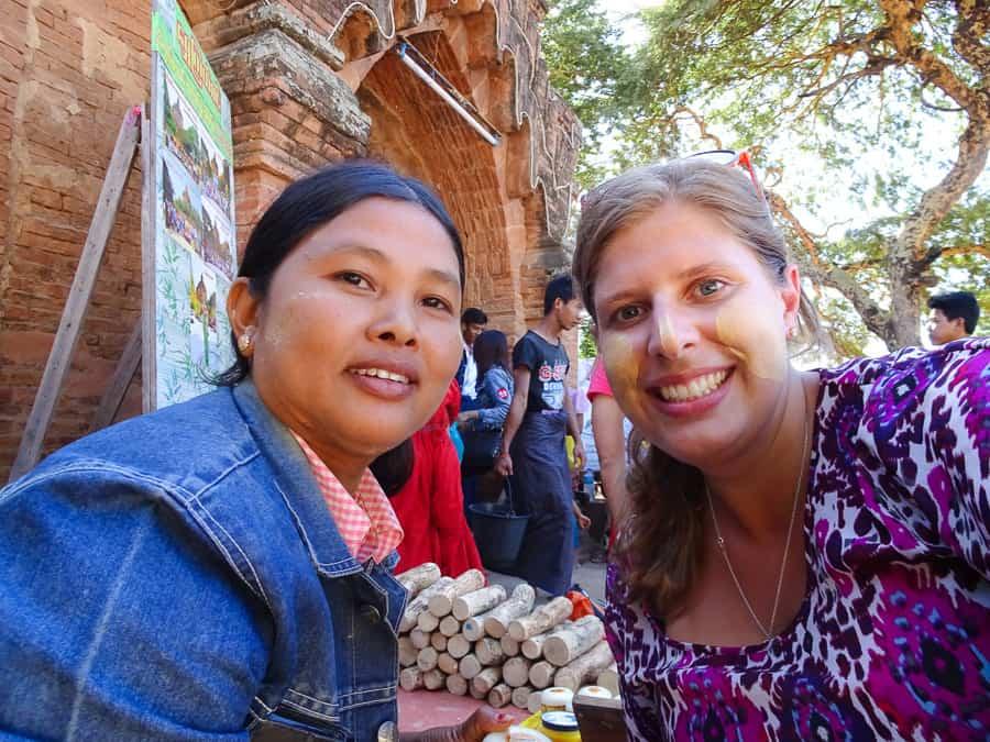 Getting the traditional Burmese Thanaka