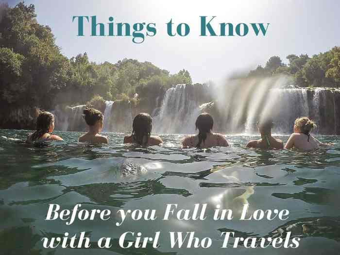 fall in love with a girl who travels