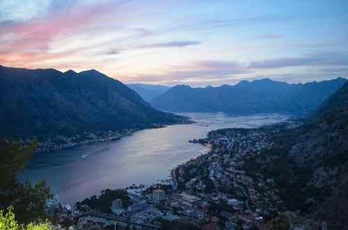 Sunset over Kotor