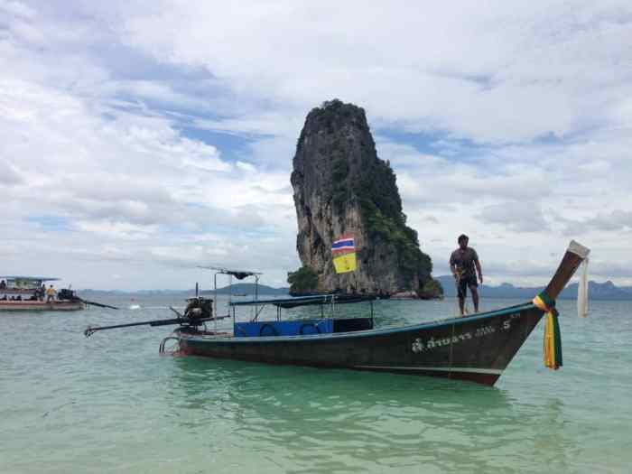 Longboats are the main form of transportation around Krabi to get to the different beaches
