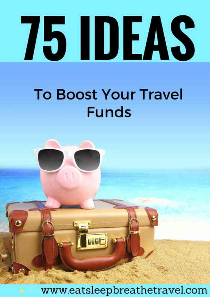 Ideas to help save money for travel