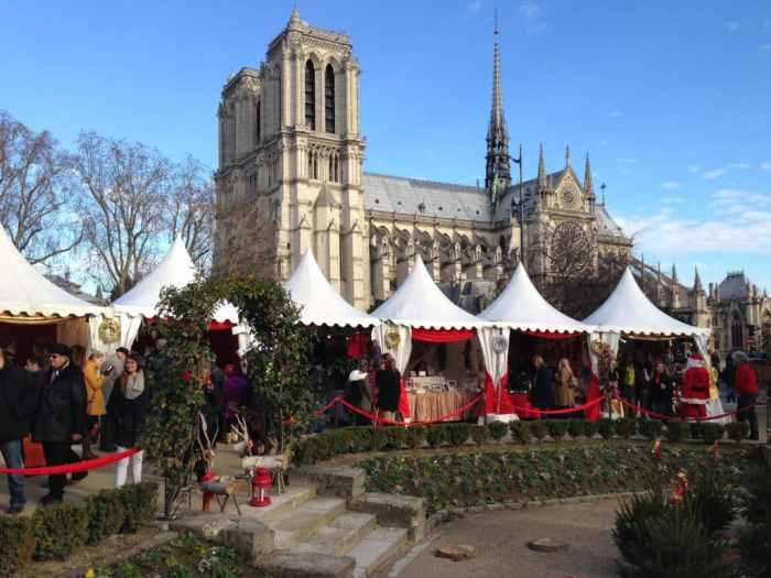 Paris Christmas Market Notre Dame
