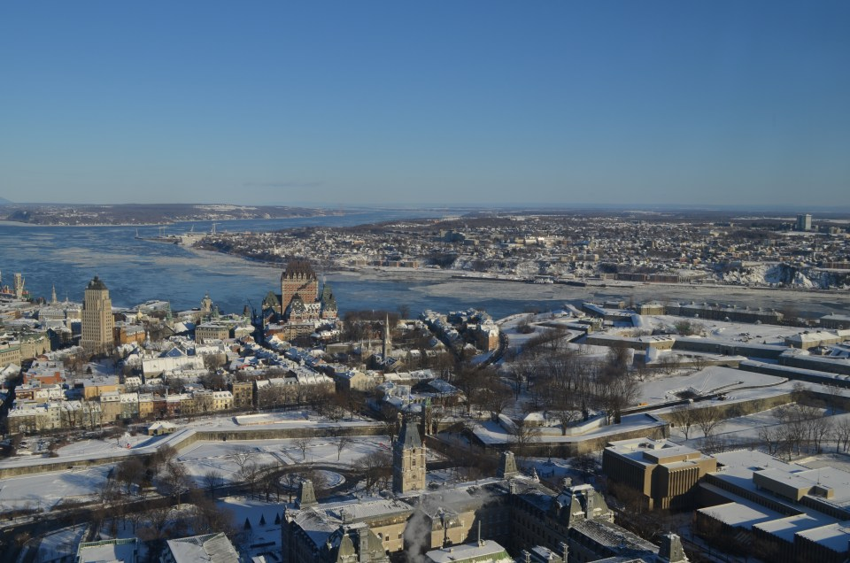 View of Old Quebec from the Observatory in Quebec City