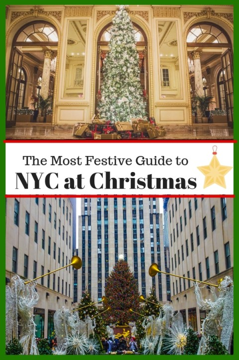 Looking to experience New York City at Christmas? From lights and decorations to Christmas markets, window displays, and more. Here's how to experience the magic of Christmas in NYC. #Christmas #NYC #NewYorkCity
