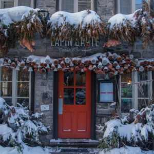 Quebec City in Winter- Rue du Petit Champlain restaurant