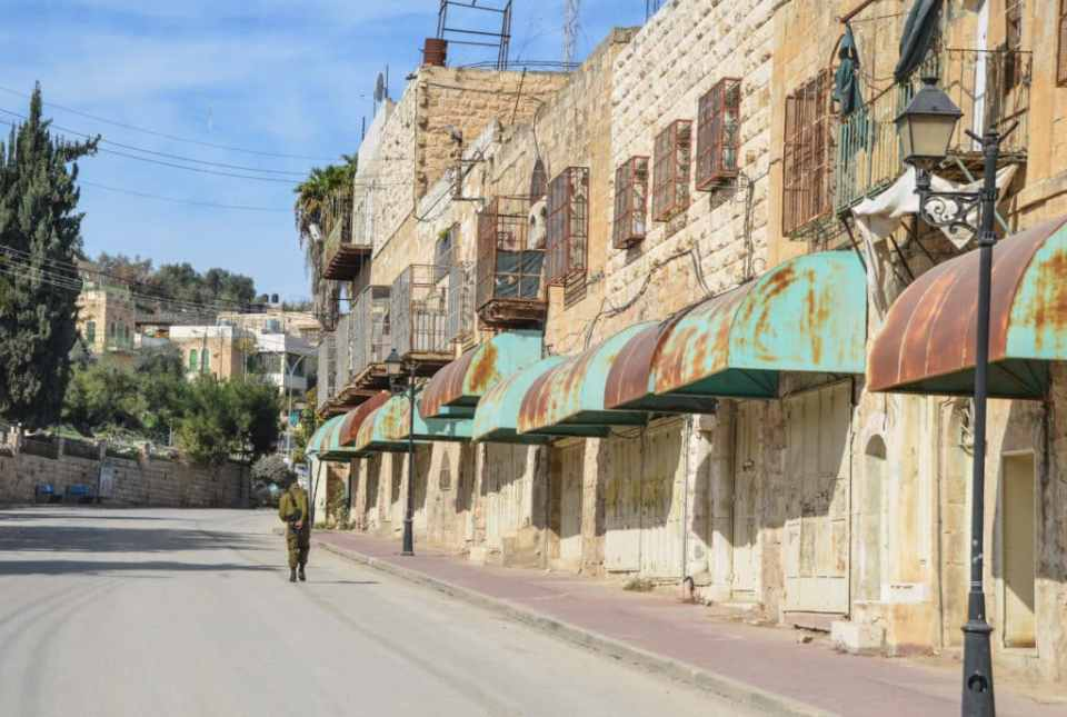 Israel side of Hebron