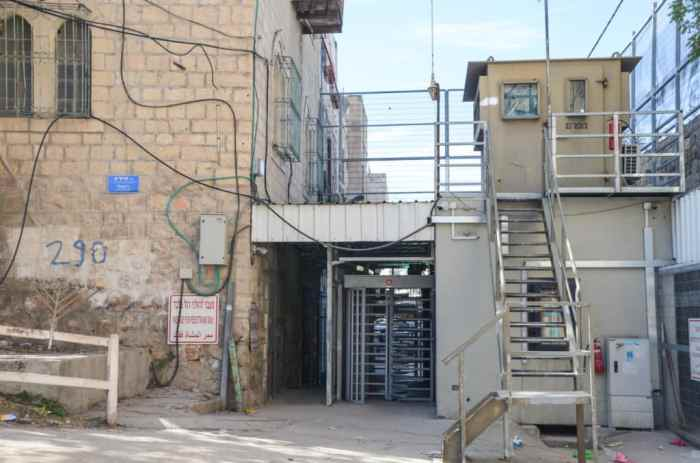 check point in Hebron