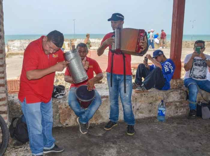 Musicians on Walls of Cartagena