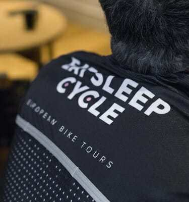 Eat Sleep Cycle 2018 Gilet Back