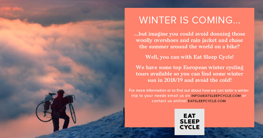 European Winter Cycling Locations from Eat Sleep Cycle