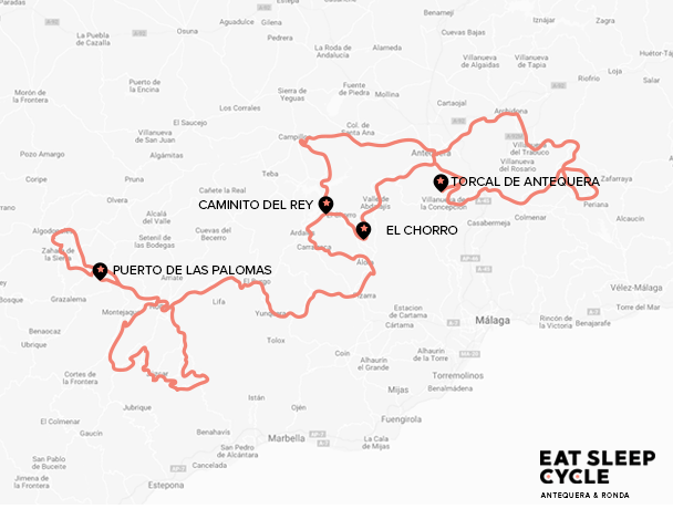 Antequera Ronda Cycling Map
