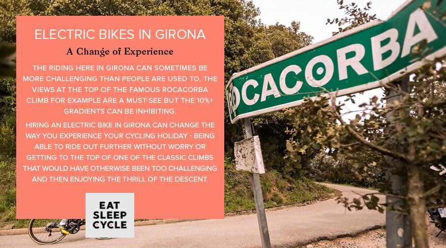 Electric Bike Rental in Girona - Rocacorba Climb - Eat Sleep Cycle