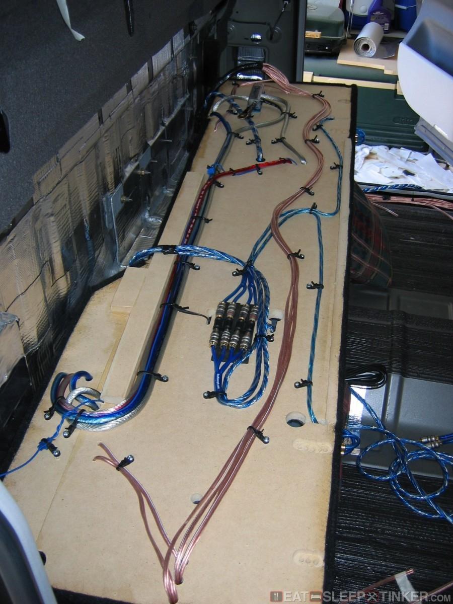 medium resolution of eat sleep tinker custom nissan titan amplifier install auto amp wiring car amp rack wiring