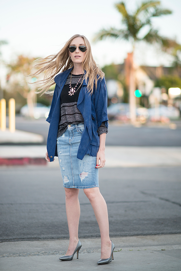 Denim Skirt  eatsleepwear  Fashion  Lifestyle Blog by Kimberly Lapides