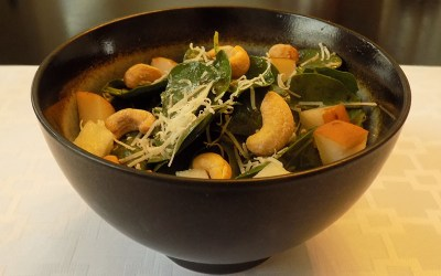 Pear Asiago Spinach Salad