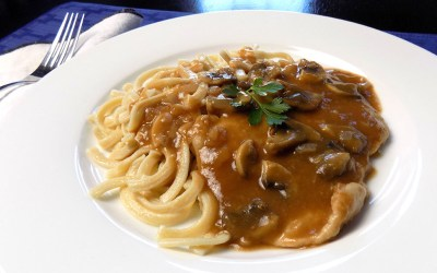 Pork Scallopini with Marsala Mushroom Gravy