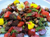 Beetroot salad with lemon oil and pomegranate dressing