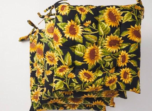 april cornell sunflower chair pads