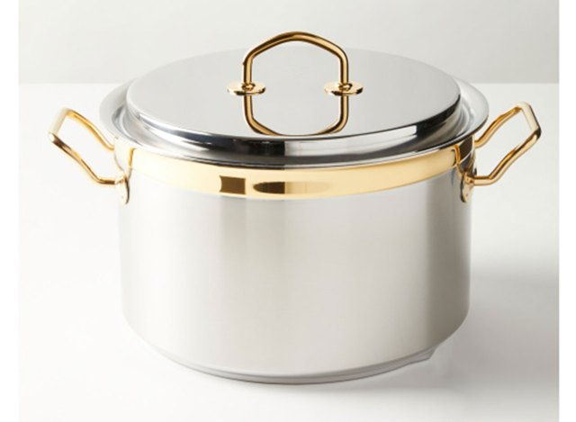 silga spa stainless steel pot with lid