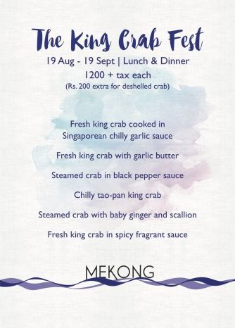 King Crab Fest at Mekong