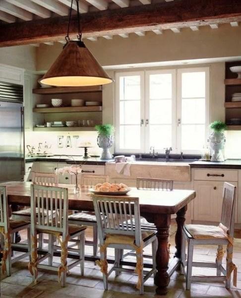 open rustic kitchen cabinets Open Shelf Kitchen Ideas — Open Kitchen Cabinets Photos