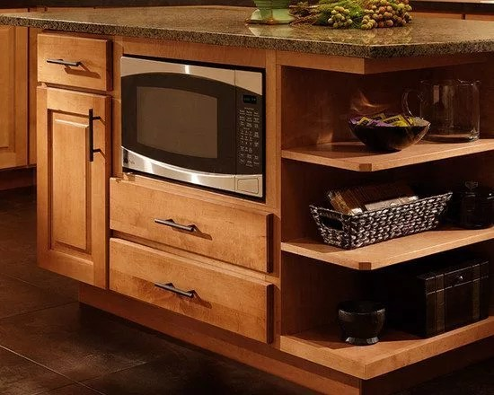 how to install microwave under kitchen