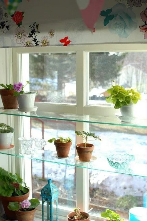 Kitchen Window Shelves  Eatwell101