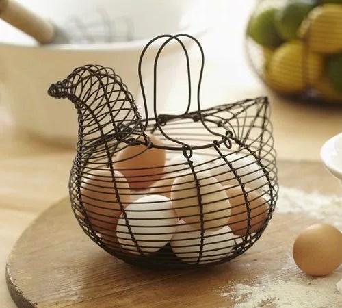 Vintage Wire Egg Baskets  Antique Egg Baskets  Eatwell101