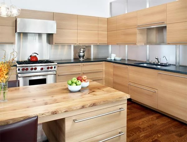 blonde kitchen cabinets island pendant lighting 10 inspiring with blond wood eatwell101 panels ideas
