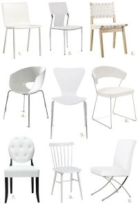 White Dining Room Chairs Decoration  Eatwell101