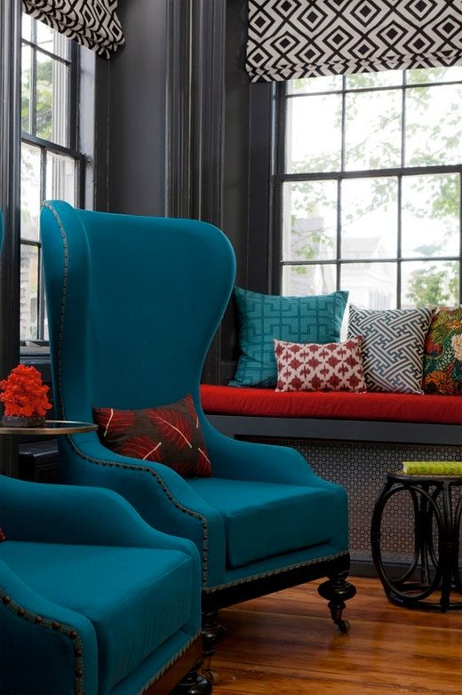 red and teal decorating ideas