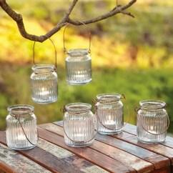 5 Piece Kitchen Table Set Narrow Cart Mason Jar Lanterns — Eatwell101
