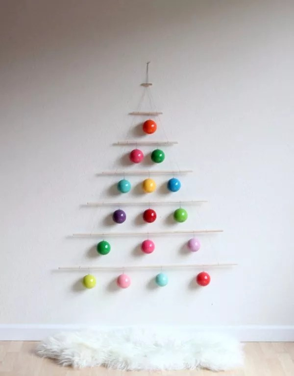 diy christmas trees wall