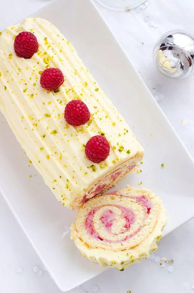 Raspberry Chocolate Cake Roll For Your Holiday Party