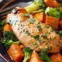 Sheet Pan Maple Glazed Chicken With Sweet Potatoes
