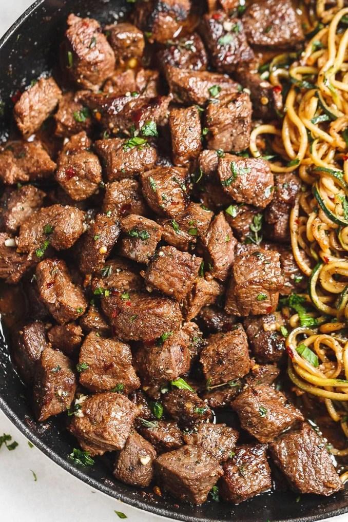 Garlic Butter Steak Bites Recipe – Garlic butter Steak