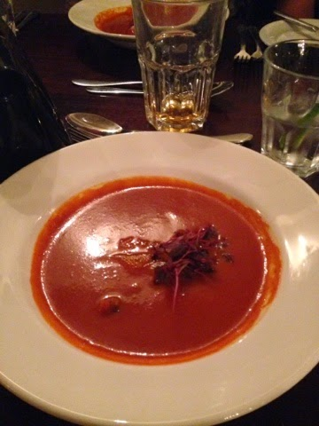 Bloody Mary Soup at Cafe Vin Cinq, Rugby