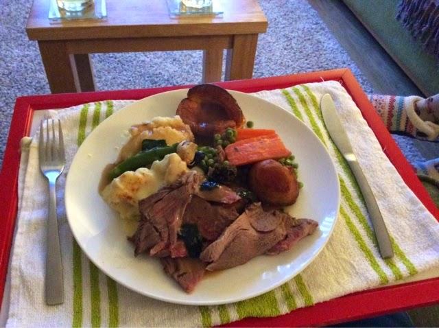 A traditional homemade Sunday roast