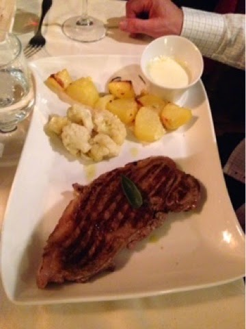 Sirloin steak at L'Ortiche, Sauze d'Oulx