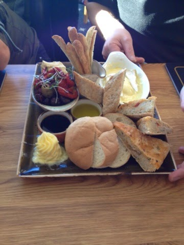 Bread platter at the Fisherman's Retreat, Lancashire