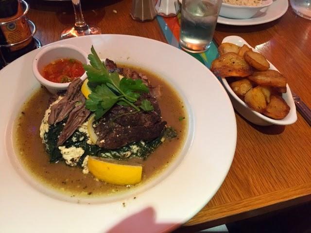 Lamb stuffed with feta at the Olive Tree greek restaurant in Chapel Allerton, Leeds