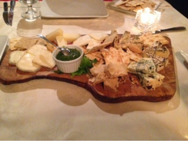 Cheeseboard at L'Ortiche, Sauze d'Oulx
