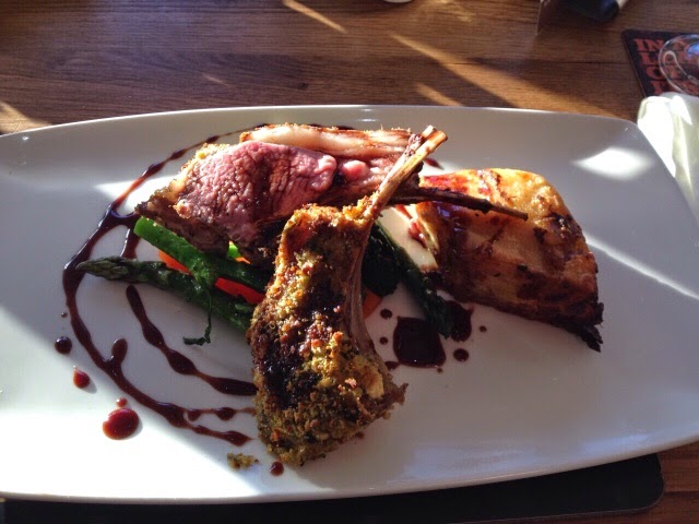 Roast rack of lamb at the Fisherman's Retreat, Lancashire