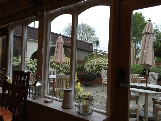 The terrace at the King's Arms, Knowle