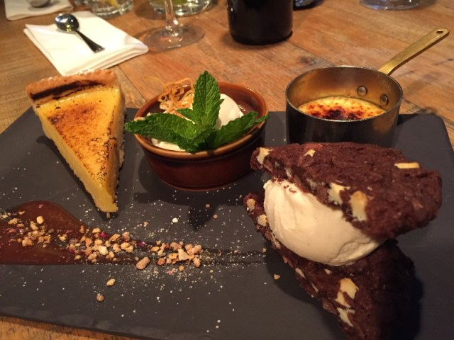 Dessert platter at the King's Arms, Knowle
