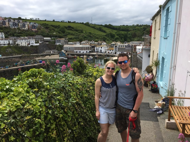 Me and Mr Manning at Mevagissey