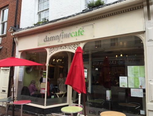 Exterior shot of Damn Fine Cafe