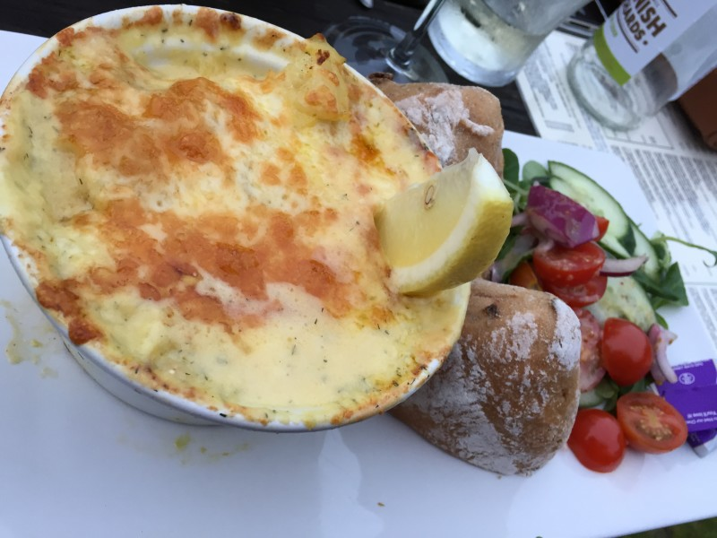 The 'Amazing Fish Pie' at the Polgooth Inn, Cornwall