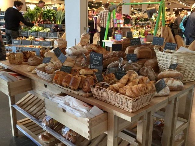 Bread and pastries at Gloucester Services